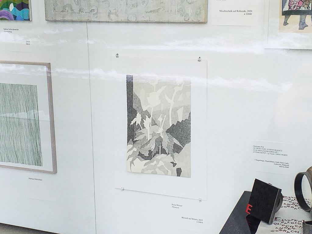 Petra Moiser im Stadtgalerie Lehen Kunstschaufenster